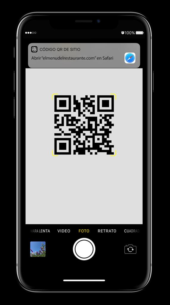 Carta para escanear con codigo QR
